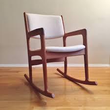 Modern Rocking Chair Vintage Mid Century Danish Modern Teak Rocker Rocking Chair By