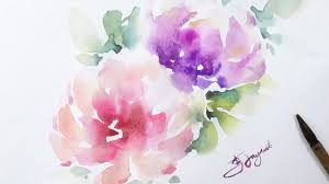 maxresdefault watercolours flowers painting lvl3 watercolor flower wet on technique home design 18