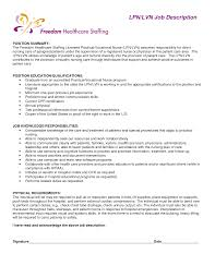Sample Resume For Lvn Resume For Your Job Application