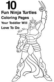 Top 10 Ninja Turtles Coloring Pages