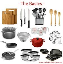kitchen essentials list for home cooks the basics from basics to fun
