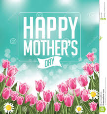 Happy Mothers Day Poster Design Happy Mothers Day Tulips Design Eps 10 Vector Stock Vector