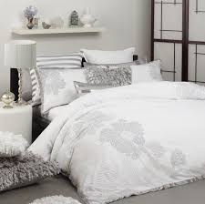 keiko quilt cover set white super king
