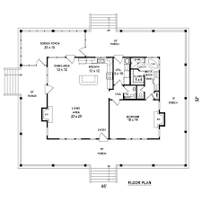 Amazing One Bedroom, 1.5 Bath Cabin With Wrap Around Porch And Screened Porch. Plan  1 Of 1