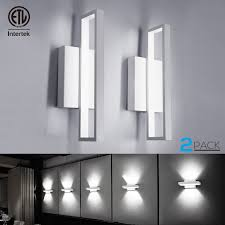 12w led square wall sconce led wall lights 75w incandescent equivalent 660lm ultra bright surface mounted led wall lamp room decor for office