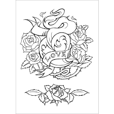 Small Picture Pictures Tattoo Coloring Pages 47 On Coloring Print with Tattoo