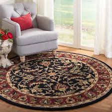 safavieh handmade heritage timeless traditional black red wool rug 3 6 x