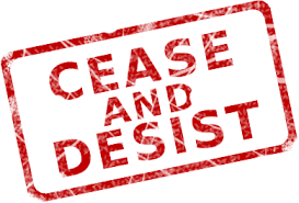 Image result for cease and desist