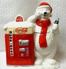 Coca Cola Polar Bear In Bottle Vending Machine Best VINTAGE COCA COLA POLAR BEAR VENDING MACHINE COOKIE JAR 488 48848 X 488488