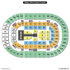 Valley View Casino Center Wwe Seating Chart Genuine Valley View Casino Venue Seating Chart How Are Seats