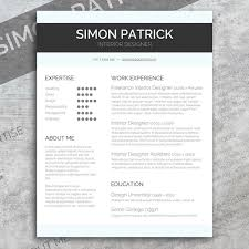 Smart Resume Best Smart Word CV Cover Letter Resume Templates Creative Market