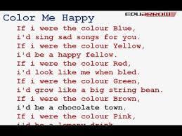 color me happy rhyme color me happy