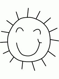 Disegni Da Stampare E Colorare Gratis Con Il Disegno Di Un Sole Da