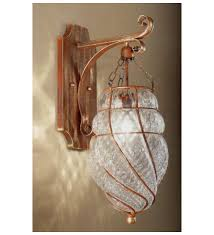 soffiati design hanging wall light with