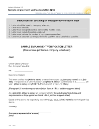 Best Photos Of Examples Of Employment Verification Letters