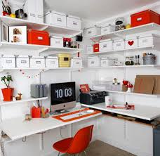 wall mounted office. Unique Ideas For Cool Home Office Design : Stunning White With Wall Mounted