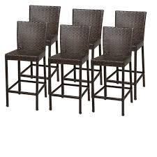 image is loading tkc napa outdoor wicker bar stools in espresso