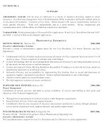 Example Resume Skills Summary For A Examples And Cover Letter Sample ...