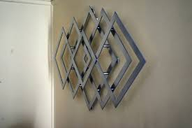 beach themed metal wall art geometric metal wall art