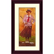ptm images 39 in x 21 62 in vintage lady golfer