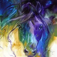 blue roan abstract by marcia baldwin