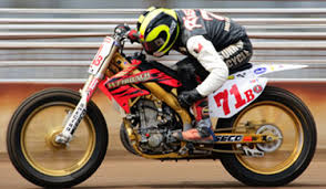 spectro performance oils new sponsor of ama pro flat track racer