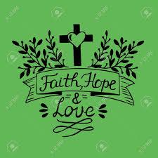 Lettrage à La Main Foi Espoir Et Amour Sur Fond Vert Verset De La Bible Affiche Chrétienne Nouveau Testament Calligraphie Moderne Impressions