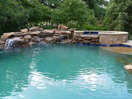 Swimming Pool:Simple Waterfall For Swimming Pool Designs Idea With Natural  Rock Decor Creative and