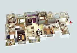 Perfect 4 Bedroom Luxury Apartment Plan