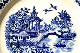 Blue Willow Pattern Custom Decorating Design