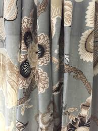 Gray and beige curtains Blue Schumacher Curtains Hothouse Flowers Curtains Floral Print Curtains Custom Curtain Panel Pleated Grey Beige Floral Curtains Jll Home Schumacher Curtains Hothouse Flowers Curtains Floral Print Curtains