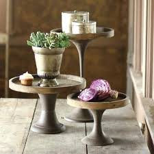 wood and metal pedestals cake stand cupcake pastry pedestal tray wooden wood scallops cake stands wooden pedestal stand