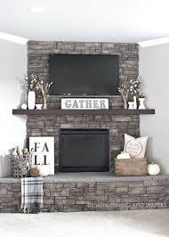 fireplace decor best 25 stone fireplace decor ideas on fire place