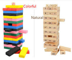 Game With Wooden Blocks New Children Toys Game Wooden Stacking Tumbling Tower Building 100 70
