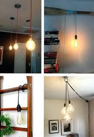 bare bulb light fixtures led pendant lighting mirror bare bulb white hanging lamp modern industrial light bare bulb