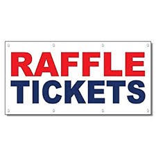 raffle sign amazon com raffle tickets red blue 13 oz vinyl banner sign with