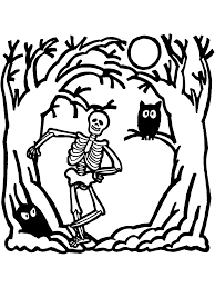Small Picture Halloween Coloring Page Skeleton PrimaryGames Play Free