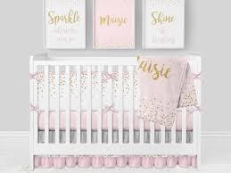 girl crib bedding pink and gray nursery