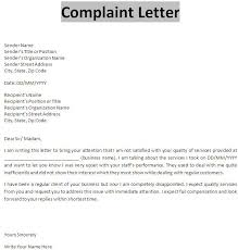 Letter Of Complaints Sample How To Write A Formal Complaint Letter Complaint Letter With