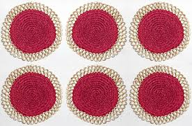 six hand woven round dining table mats curly out of stock six hand woven round dining table mats