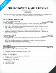 Phlebotomist Resume Cool Free Sample Resumes For Phlebotomist Fresh Phlebotomy Resume