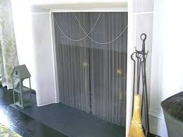 new fireplace mesh curtain for fireplace curtain screen 63 fireplace mesh curtain rod kit