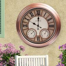 outdoor clock thermometer