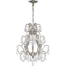 jeremiah lighting jer c pln mini chandelier polished nickel