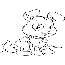 Schattige Kleurplaten Van Dieren Puppy Cute Drawing Litle Pups