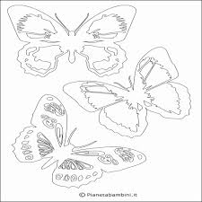 Sagome Di Farfalle 15 Disegni Per Bambini Da Stampare E Colorare