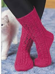 Sock Knitting Pattern Magnificent Knit Clothing Lace Leaf Socks