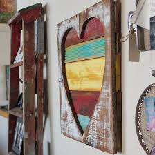 decorating wooden heart wall decor with rustic accent gallery wall