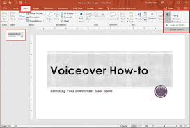For Powerpoint How To Do A Voiceover On Powerpoint