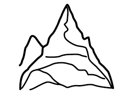 Small Picture Mountain Coloring Page Coloring Book